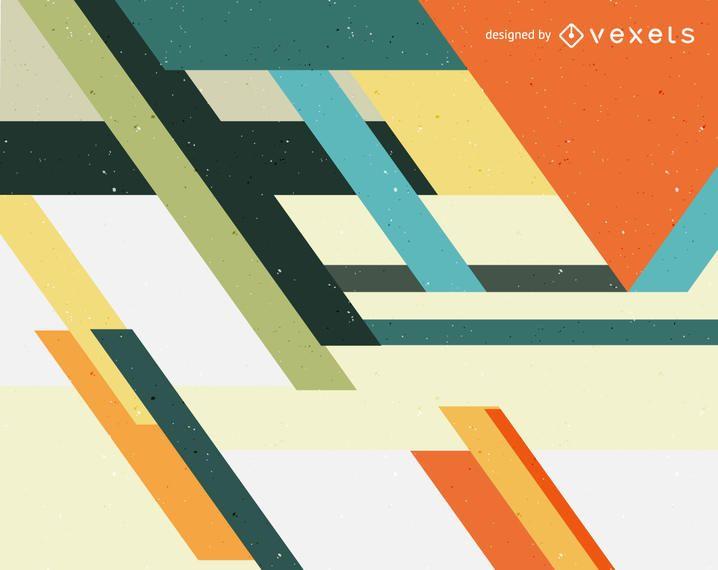 Retro Farben.Abstrakter Hintergrund In Den Retro Farben Vektor Download