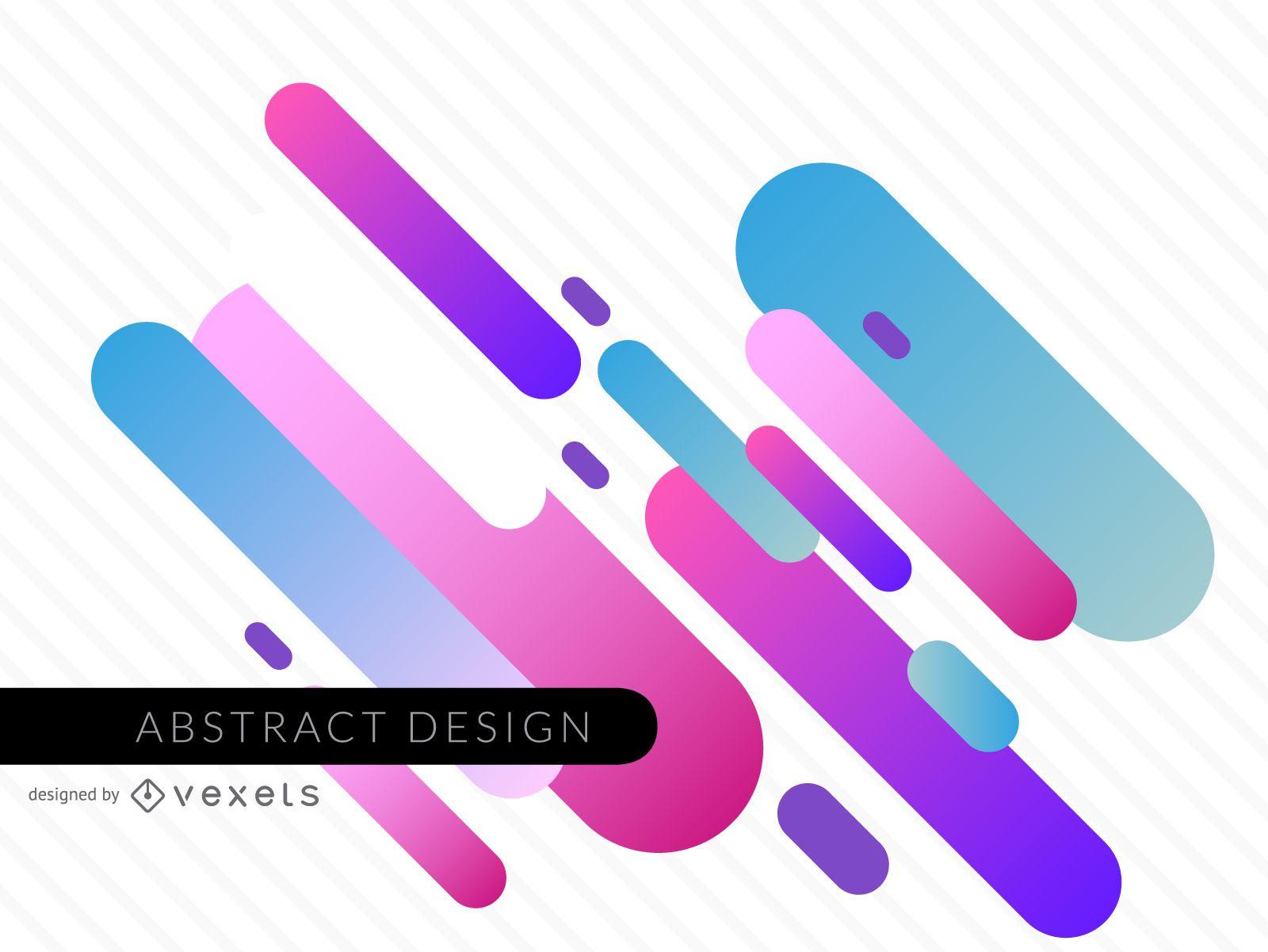 Fondo moderno y abstracto con formas