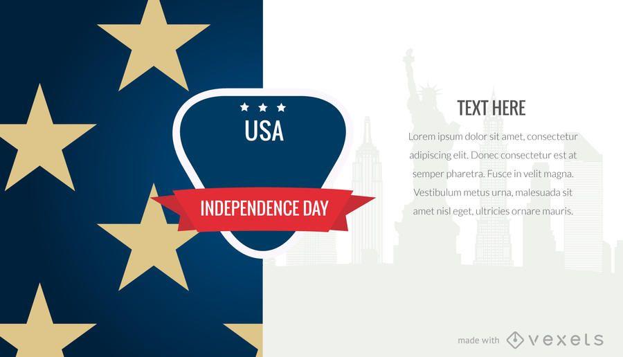 Patriotic USA holiday poster maker