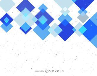 Abstrakter Hintergrund mit blauen geometrischen Formen