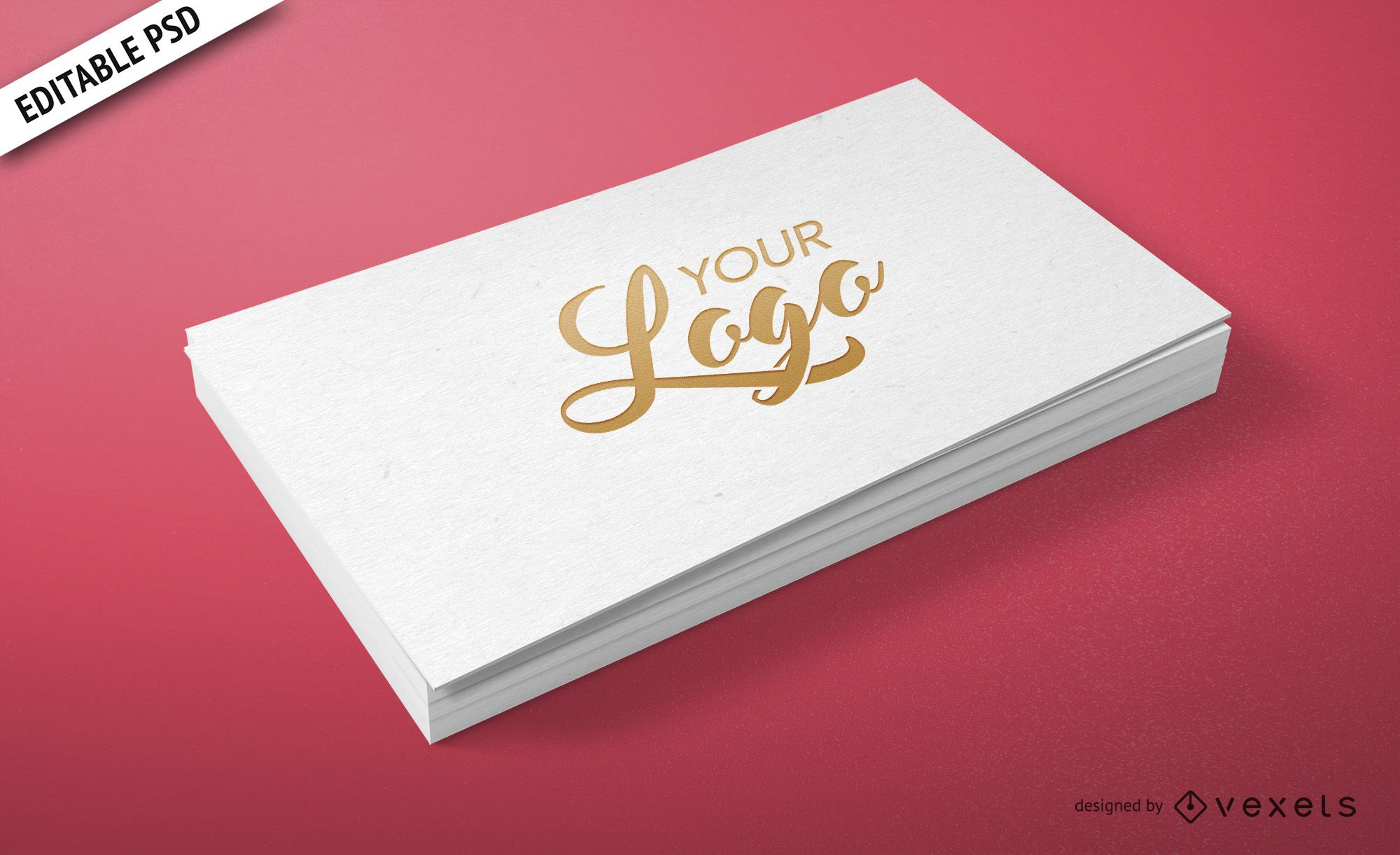 Personal business card PSD mockup - PSD download