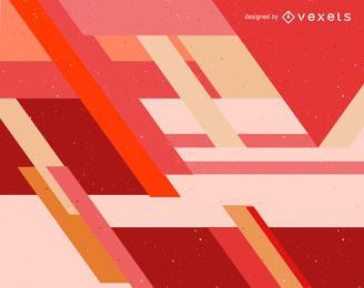 Diseño de fondo abstracto rojo y naranja