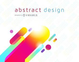 Design de fundo futurista colorido