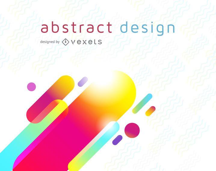 Projeto futurista colorido do fundo
