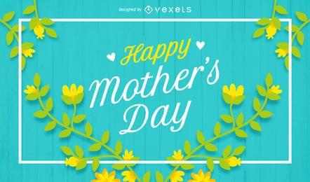 Cartel feliz del día de madre con las flores