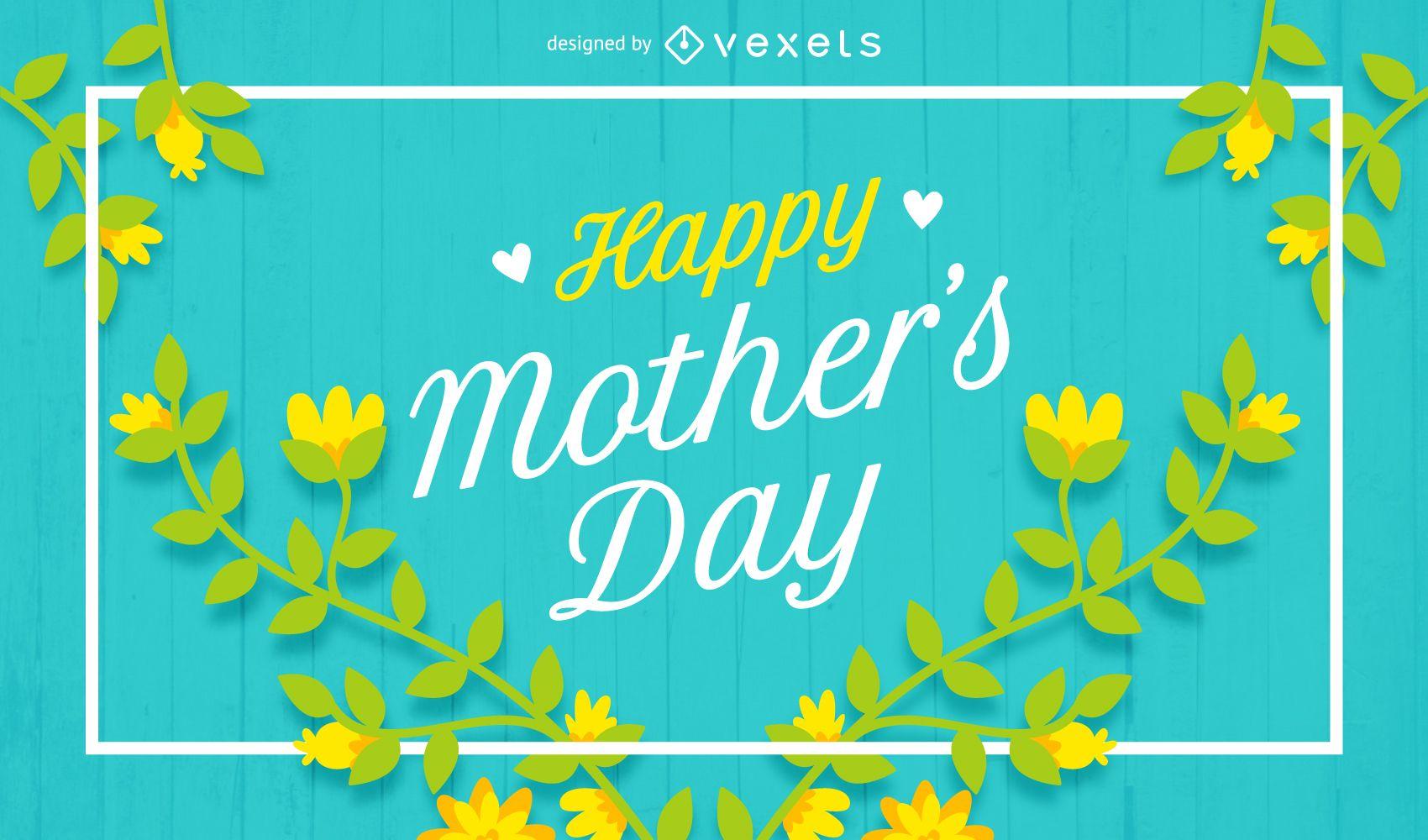 Cartel de feliz día de la madre con flores
