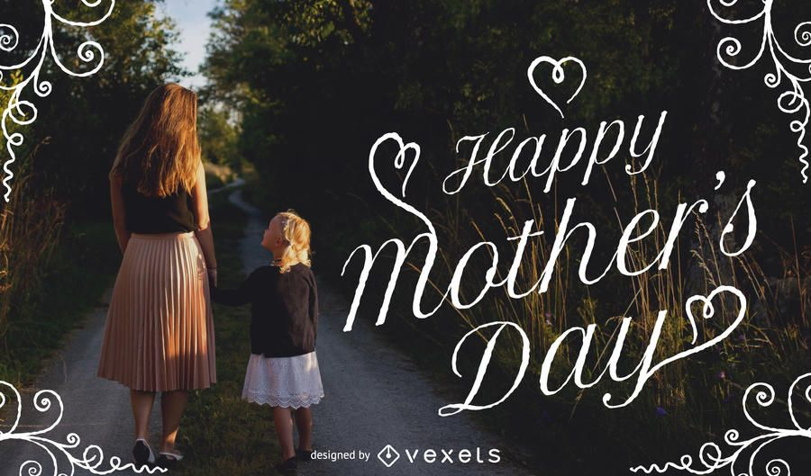Mother's Day image with typography and frame