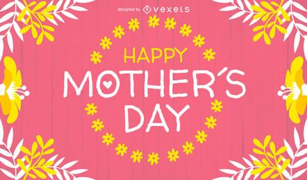 Design de cartão de dia das mães brilhante