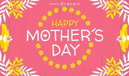 Diseño de tarjeta del día de la madre brillante