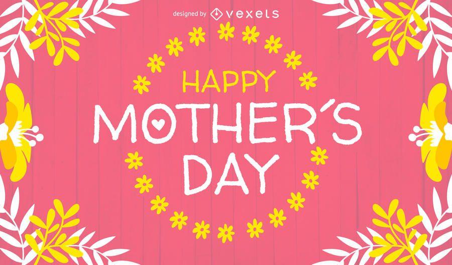 Design de cartão brilhante do dia das mães