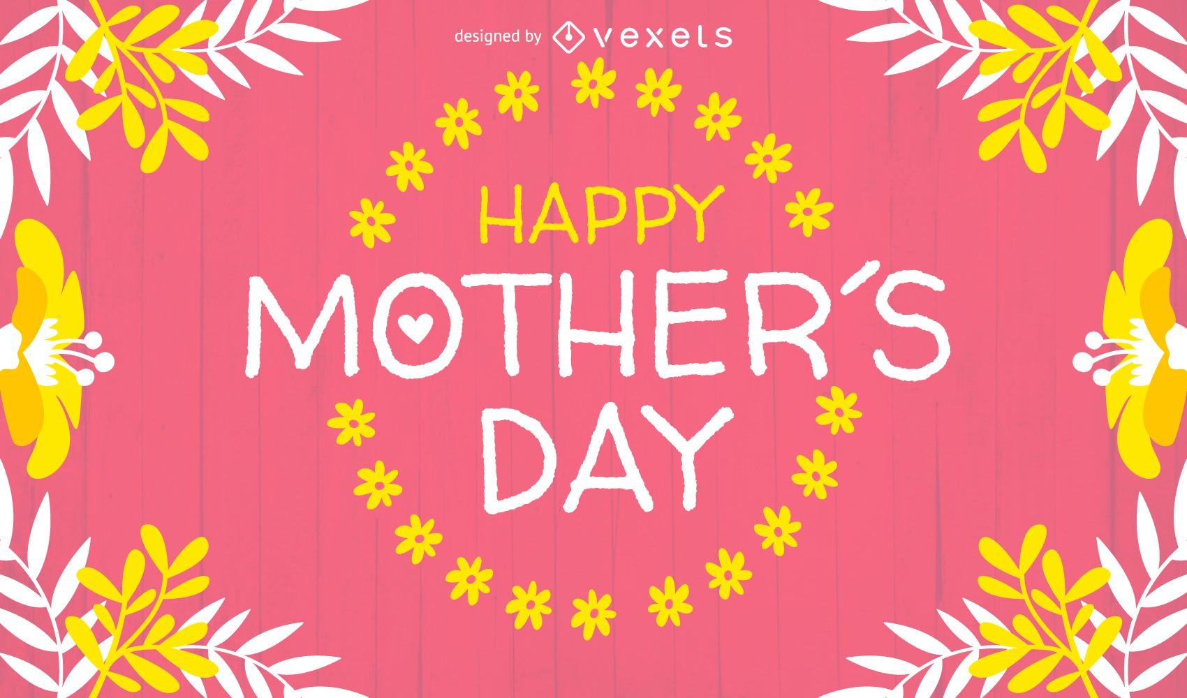 happy mother u0027s day design with badge vector download