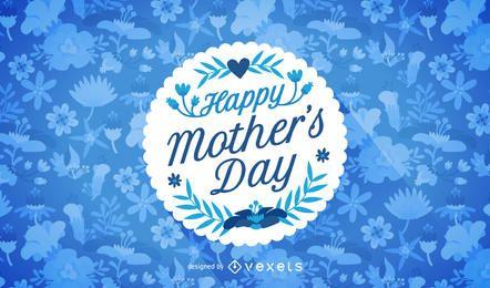 Feliz dia das mães design com distintivo