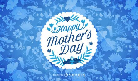 Feliz dia das mães design com emblema