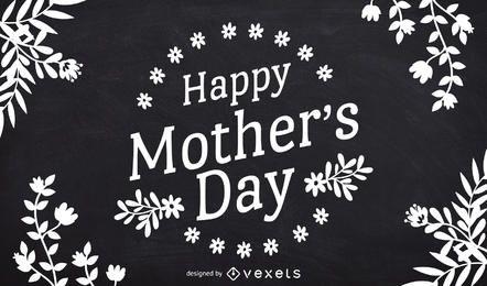 Desenho de quadro-negro para o dia das mães