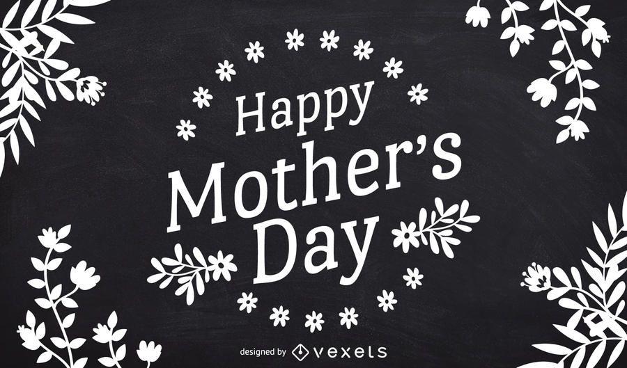 Diseño de pizarra del día de la madre