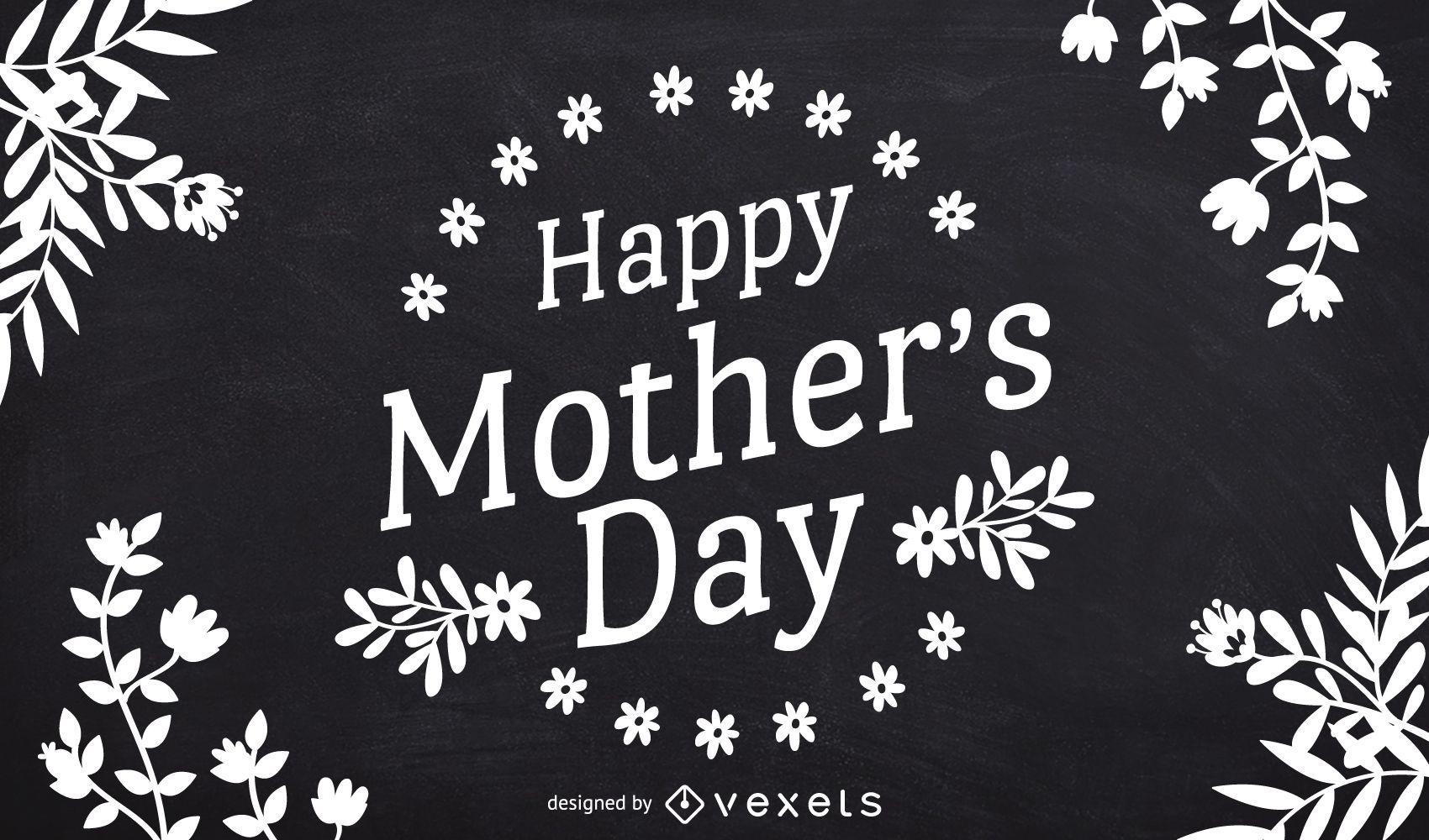 Mother's Day chalkboard design