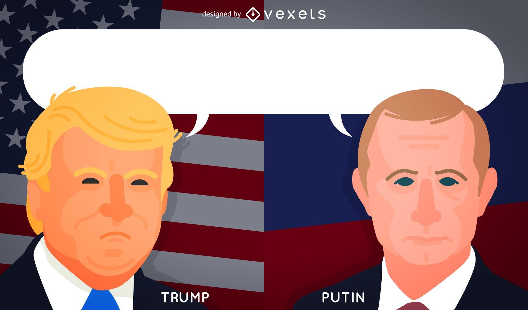 Trump and Putin cartoons for articles