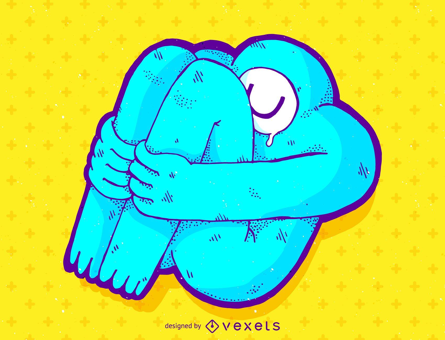 Ilustración de dibujos animados de cíclope