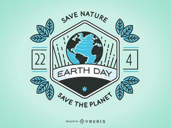 Diseño de la insignia del Día de la Tierra