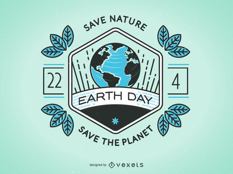 Earth Day badge design