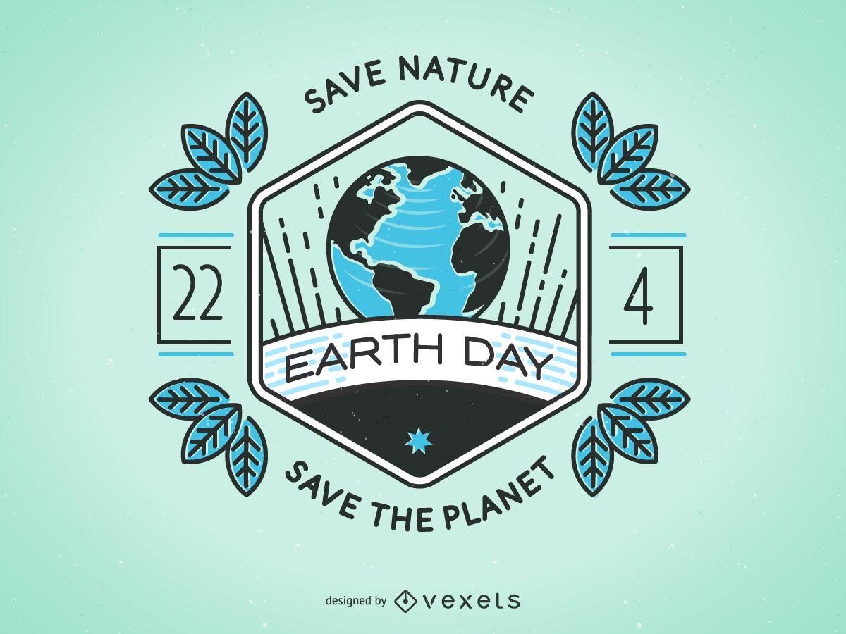 Earth Day badge design