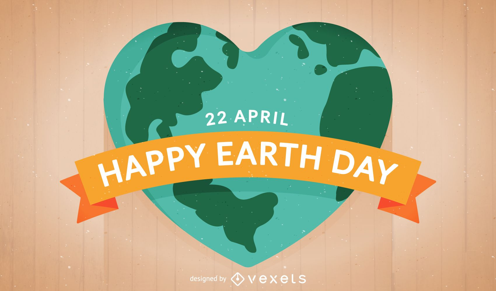 Flat Earth Day illustration with heart-shaped Earth