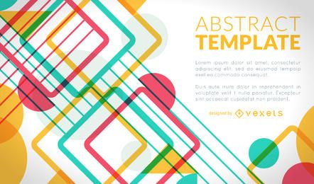 Colorful poster design with geometric shapes