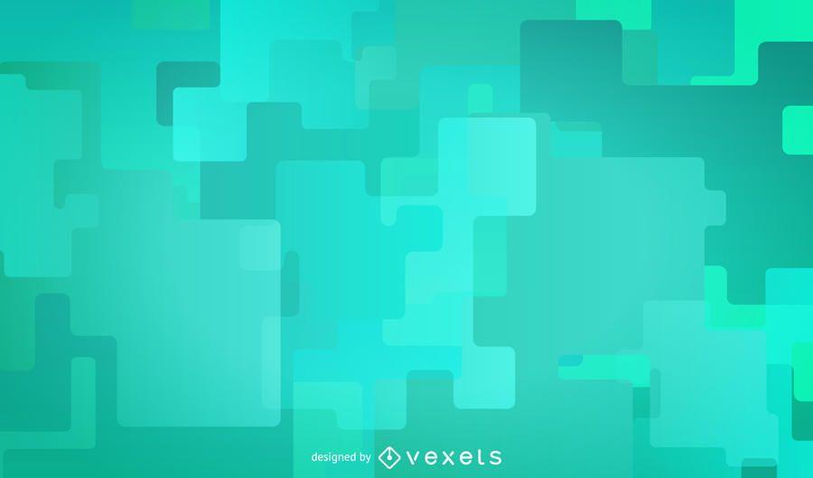 Grüner Hintergrund mit futuristischen Formen