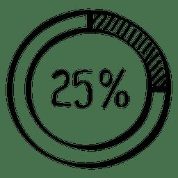 25 Prozent Gekritzel-Diagramm