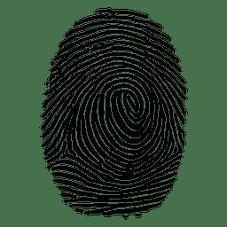 Huella dactilar alineada detallada
