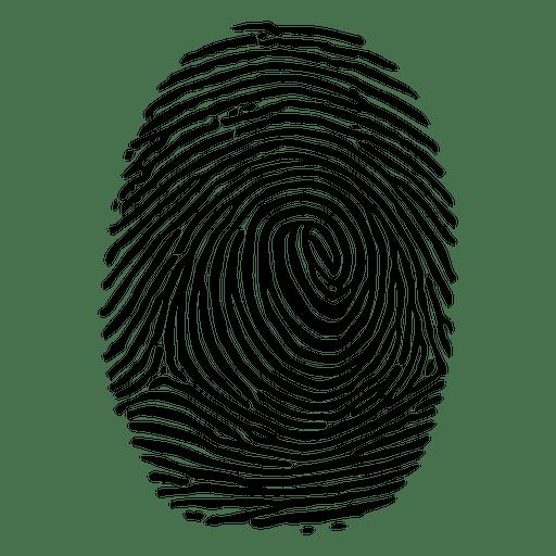 Detailed lined fingerprint Transparent PNG