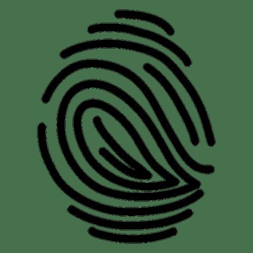 Fingerprint human minimalistic Transparent PNG