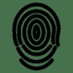 Curvas da linha de impressões digitais