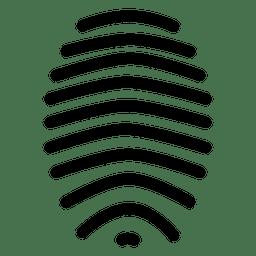 Trazo de línea de huella digital
