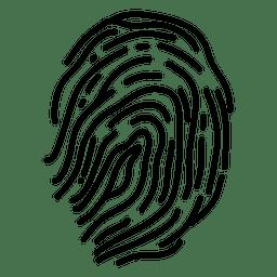Curvas de líneas de huellas dactilares