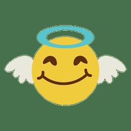 Emoticon sorridente rosto de anjo 6