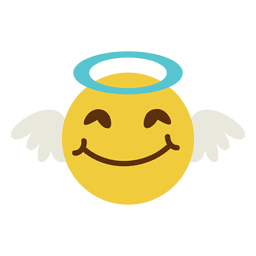 Smiling angel face emoticon 6