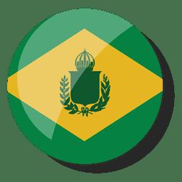 Abzeichen Brasilien Reich Flagge Brasilien