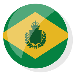 Badge brazil empire flag brazil