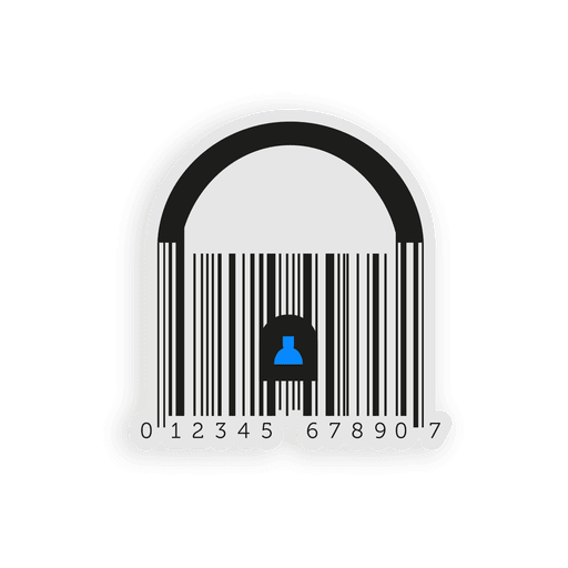 Business blue codebar padlock Transparent PNG