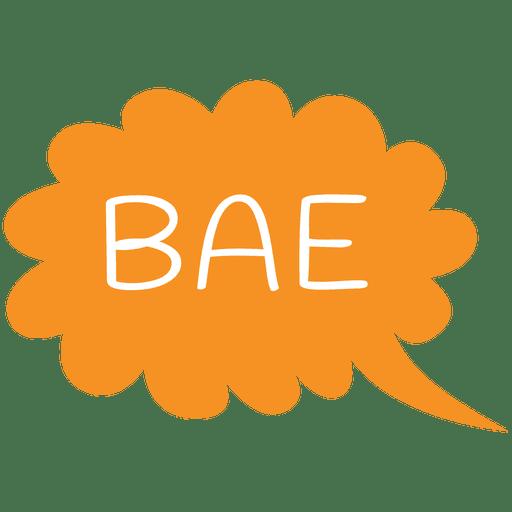 Slang bae Text