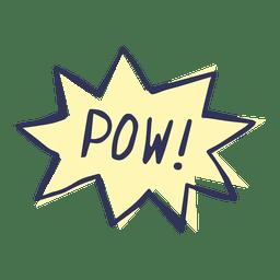 Palabras de la jerga cómica de dibujos animados de Pow