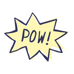 Pow cartoon comic slang words