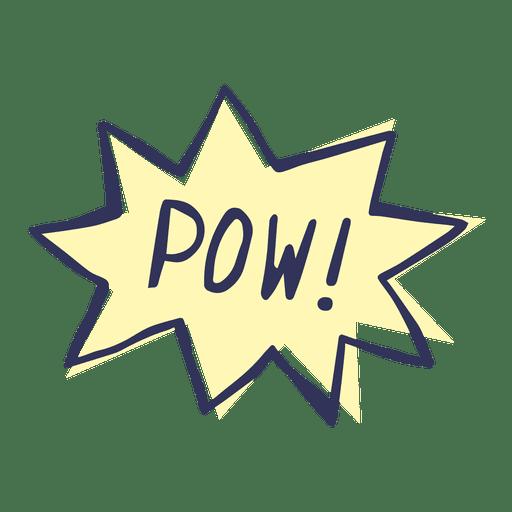 Pow cartoon comic slang words Transparent PNG