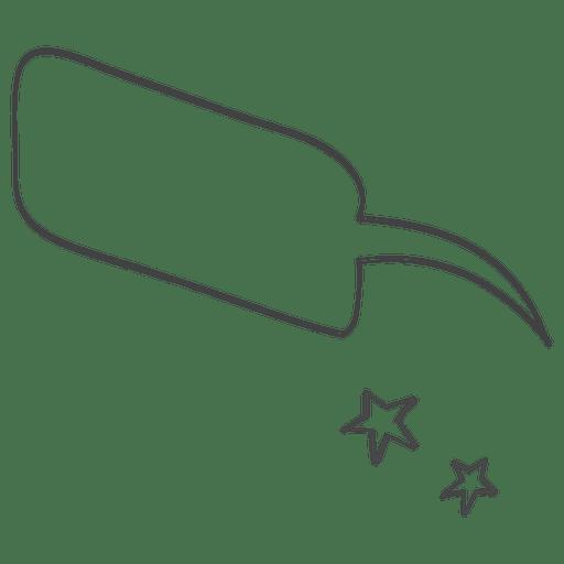 Cartoon comic speech doodle