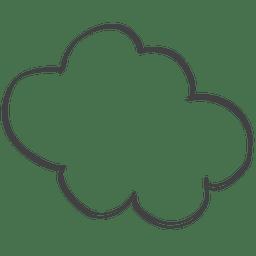 Cartoon comic speech doodle cloud