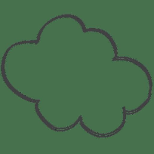 Cartoon comic speech doodle cloud Transparent PNG
