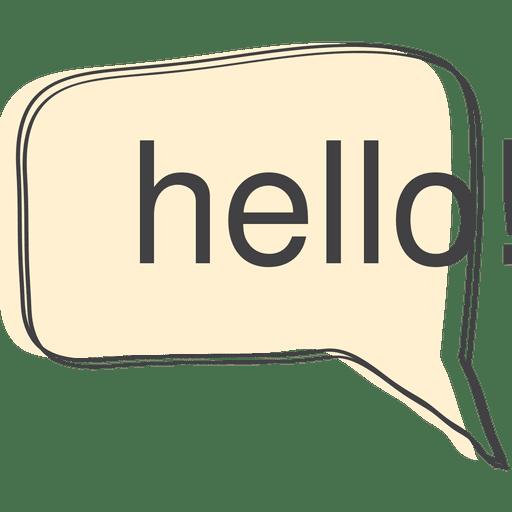 Hello Speech Bubble Transparent PNG