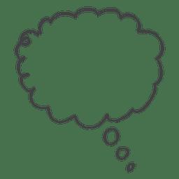 Ícone de doodle de discurso em quadrinhos de desenhos animados
