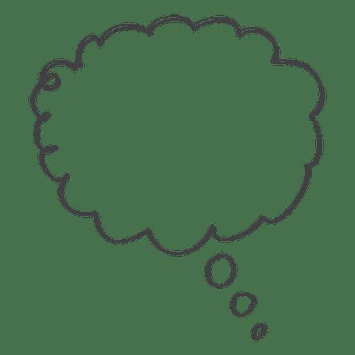 Ícone de doodle de discurso em quadrinhos de desenhos animados Transparent PNG